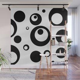 Circles Dots Bubbles :: White Salt Wall Mural