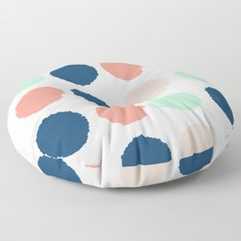 Polka dots abstract dotted pattern brushstrokes paint brush marks abstract trendy colors Floor Pillow