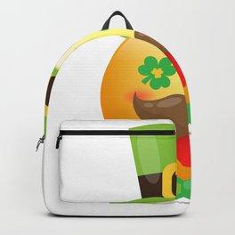 Emoji Mustache Funny St Patricks Day Girls Boys Backpack