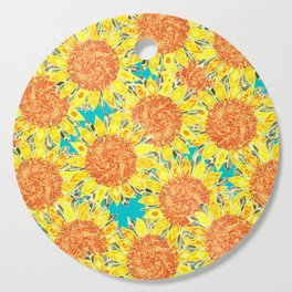 sunflower field Cutting Board