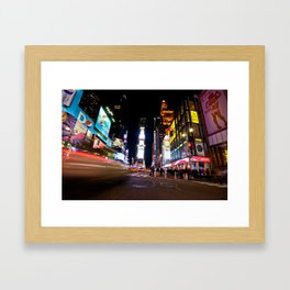 Times Square Framed Art Print