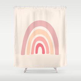 Rainbow Shape Abstraction Shower Curtain