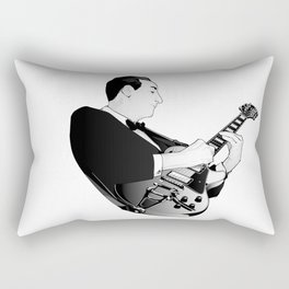 LES PAUL House of Sound - WHITE GUITAR Rectangular Pillow