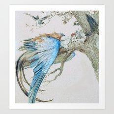 Feather fairy by Sergey Sergeevich 1912 Art Print