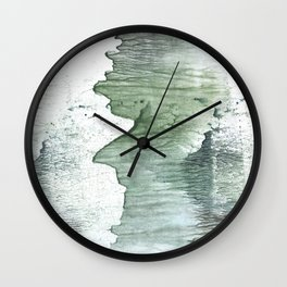 Silvery green Wall Clock