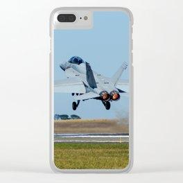 Avalon Airshow - RAAF FA-18 Hornet Clear iPhone Case
