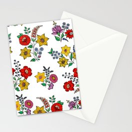 Hungarian floral repeat 1 Stationery Cards
