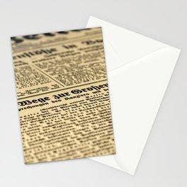 Newspaper Stationery Cards