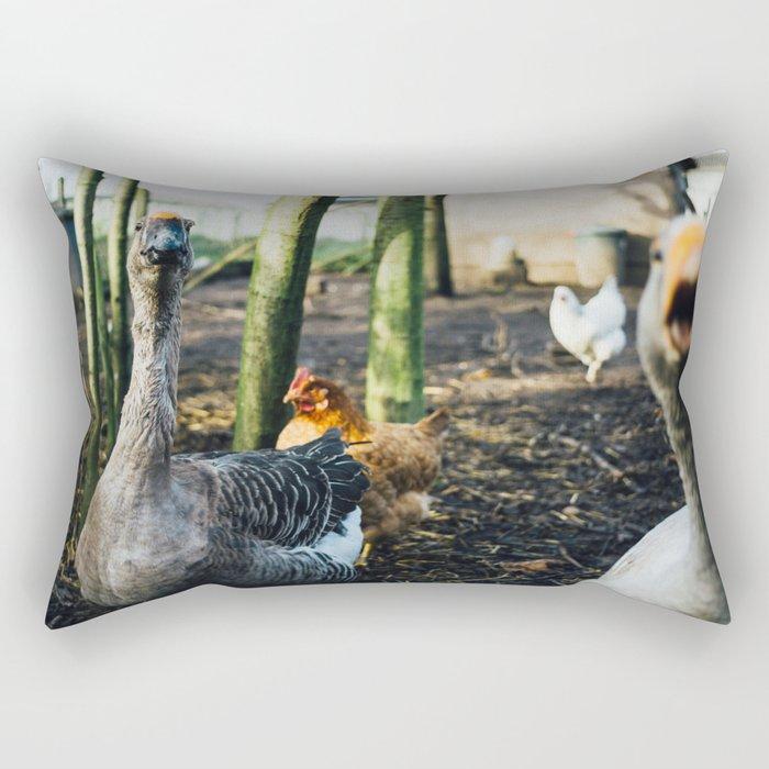 Angry Goose Rectangular Pillow