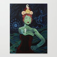 marina and the diamonds Canvas Prints featuring Marina by Gina Angelina Tolentino