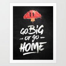Go Big or Go Home Mario Inspired Smash Art Art Print