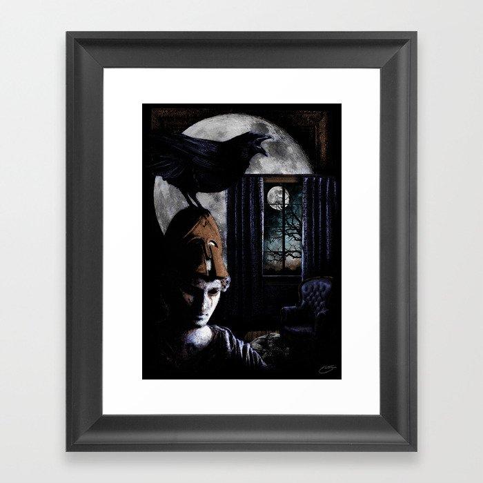 """""""The Raven"""" - Edgar Allan Poe Series Framed Art Print"""