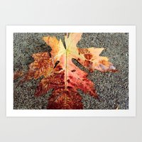 and the leaves were all falling. Art Print