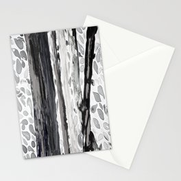 Rainbow Eucalyptus Graffiti artist tree from shedding bark South Pacific Black and White Night Stationery Cards