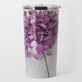 Pink Dried Hydrangea Travel Mug