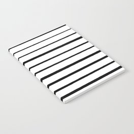 Black and White Rough Organic Stripes Notebook