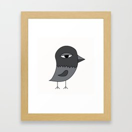 Big Eye Pigeon Framed Art Print