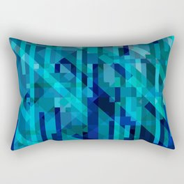 abstract composition in blues Rectangular Pillow