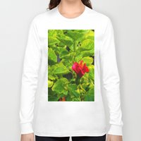hibiscus Long Sleeve T-shirts featuring Hibiscus by Rachel Butler