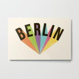 Letters : Berlin Metal Print
