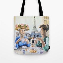 Tea Time in Paris Tote Bag