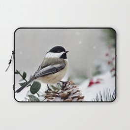 Winter Chickadee Laptop Sleeve