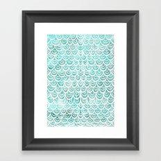 Watercolor Mermaid Turquoise Framed Art Print