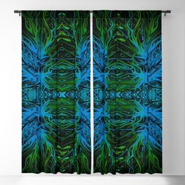 Electric Emerald Ocean Sunset by Chris Sparks Blackout Curtain