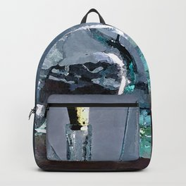 Reflections in Blue Backpack