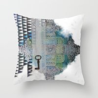 cross Throw Pillows featuring Cross by oxana zaika