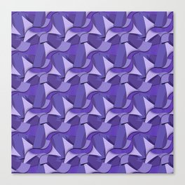 Ultra Violet Abstract Waves Canvas Print