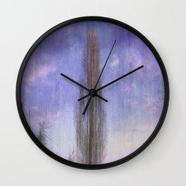 Ultra Violet Sunset Wall Clock