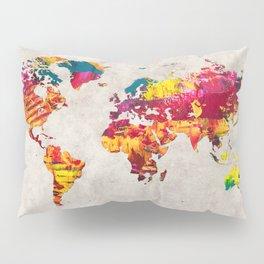 World Map 55 Pillow Sham