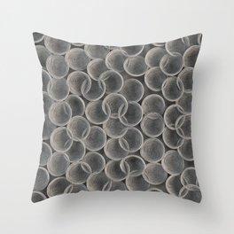 White spiraled coils Throw Pillow