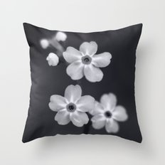 Forget me not BW Throw Pillow