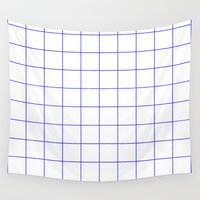 grid Wall Tapestries featuring GRID by G-VNCT