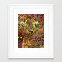 saga Framed Art Prints featuring Hero's Journey by Travis Gillan