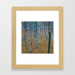 Gustav Klimt - Beech Grove I - Forest Painting Framed Art Print