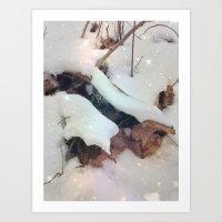 Starlit Snow Art Print