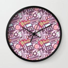 Makeup Print Wall Clock