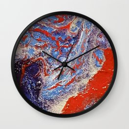 red and blue flow Wall Clock