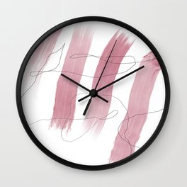 Colored Paint and Pencil 06 Wall Clock