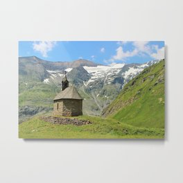 Church in the mountains Metal Print