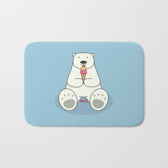 Ice Cream Lover Bear Bath Mat