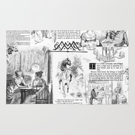 Pride and Prejudice - Pages Rug
