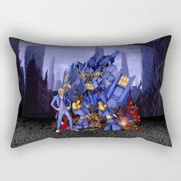 12th Doctor with Samurai Rectangular Pillow