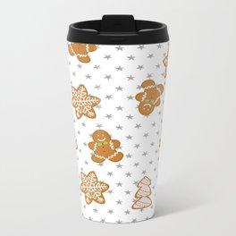 Gingerbread Metal Travel Mug