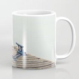 Silent friend - Tern and mooring bollard Coffee Mug