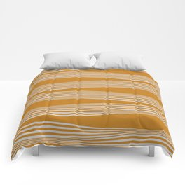 Wavy Stripes // Goldenrod Comforters