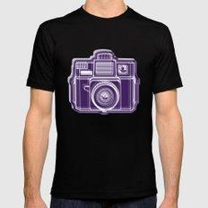 I Still Shoot Film Holga Logo - Deep Purple SMALL Black Mens Fitted Tee